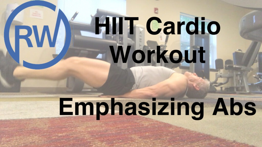 HIIT cardio workout emphasizing abs