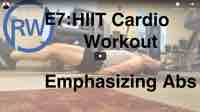 HIIT ab routine for