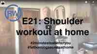 "Shoulder workout at home for ""Fat Burning Secrets"""