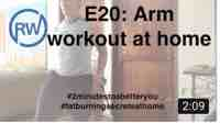 "Arm workout at home for ""Fat Burning Secrets"""