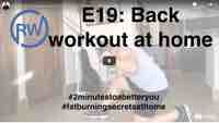 Back workout at home for
