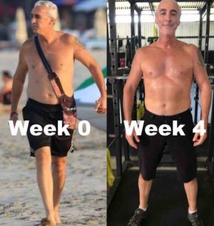 52 year old male comparison week 0 to week 4